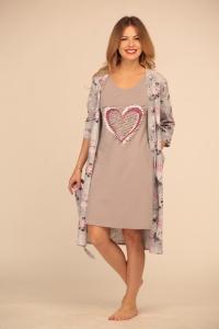 комплект халат+ночная сорочка