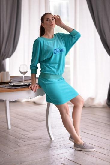 костюм свитшот+юбка